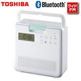 東芝 SD/CDラジオ Bluetooth ワイドFM リモコン付き TY-CB100-W ホワイト【送料無料】【KK9N0D18P】