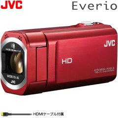 送料&代引き手数料無料ビクター ビデオカメラ エブリオ 32GB GZ-V675-R ローズレッド JVC【送...