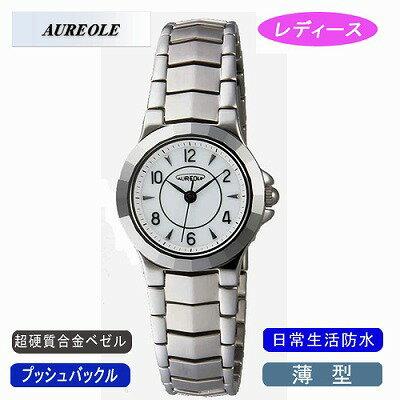 腕時計, レディース腕時計 AUREOLE SW-457L-3KK9N0D18P