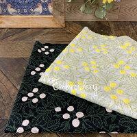 コットンローン刺繍エンブロイダリー花柄