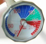 揚げ箸温度計の温度表示部拡大