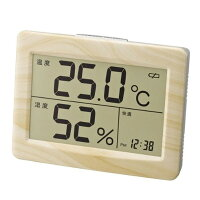 デジタル温湿度計:警告機能つき温湿度計&時計N-008