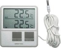 冷蔵庫温度計:外部センサーつき温度計O-215WT