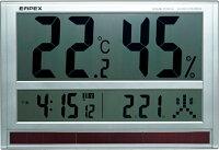 超特大画面のデジタル温湿度計