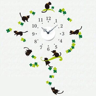 ウォールステッカークロック:時計と数字とウォールステッカー【メール便可¥500】