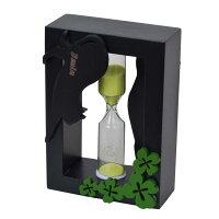 砂時計:黒猫砂時計(クローバー)3分計グリーンG-1480