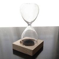 砂鉄とマグネットの砂時計