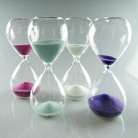 シンプルな15分計のガラス砂時計