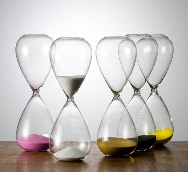 砂時計 シンプル 30分 ガラス砂時計 白色 ST-30