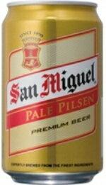 サンミゲール・ピルスナー  缶 330ml/24.nケース重量:約10.6kg 香港製造