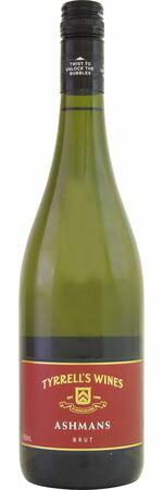 ティレルズ アシュマン ブリュット (SC)  NV  白泡 750ml/12本TYRRELL'S ASHMANS BRUT200 最上区画を含む選りすぐりのセミヨンにシャルドネを程よくブレンド。ワンランク上のまろやかな風合いを表現。