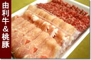 秋田を代表する黒毛和牛のしゃぶしゃぶ用お肉です!秋田由利牛(200g)・桃豚(300g) しゃぶしゃぶセット