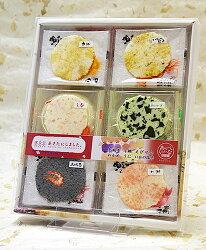 かなえや秋田にしました浜焼煎餅6種24枚