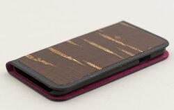 八柳樺細工さくらiPhone「無地」iPhone6・6s用手帳型ケース(ピンク)