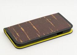 八柳樺細工さくらiPhone「無地」iPhone6・6s用手帳型ケース(イエロー)