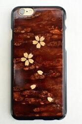 樺細工八柳さくらiPhone「桜ラメ」iPhone6・6s用ケース