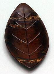 経徳樺細工茶箕木の葉