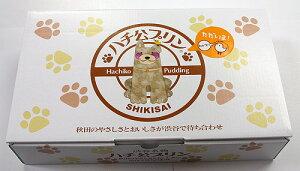 秋田で生まれ、渋谷で育ったプリン四季菜 ハチ公プリン 6個セット箱入