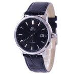オリエント ORIENT 腕時計 自動巻き【日本製】サファイアクリスタル 革バンド ブラックダイアル 海外モデル SER2700GB0 メンズ 【国内正規品】