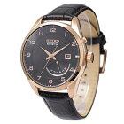 セイコーSEIKO腕時計海外モデルKINETICキネティックレトログラードブラック/ゴールドSRN054P1メンズ[逆輸入品]