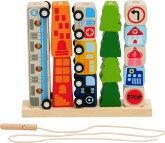「知育玩具」(木のおもちゃ)I'mTOY「ソート&カウントシティ」