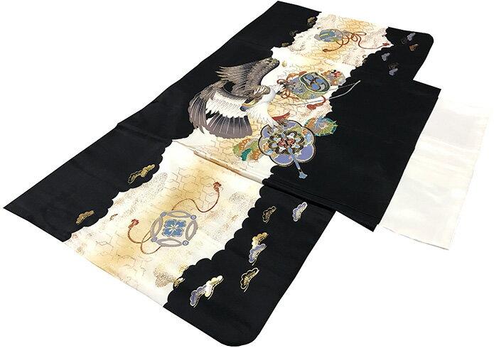 七五三 着物 男の子 5歳 フルセット 正絹 新品セット75d965:あこがれゆめ