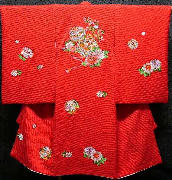 お宮参り 女の子 着物 女児祝着 正絹 のしめ 初着 産着 新品j3046:あこがれゆめ