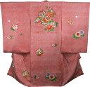 【往復送料無料】七五三 レンタル 3歳 女の子 格安 被布・足袋 付き 8点フルセット ピンクに梅 お正月参拝・お参り