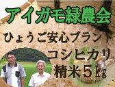 【定期購入】平成28年産!「アイガモ米」精米5kg 農薬や化学肥料を一切使わない栽培方法のコシヒカリ100% あいがも米 合鴨米