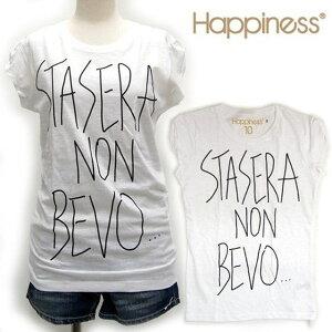 ★レビューを書いて5%off★ITALYのこだわりデザインTシャツ「Happiness is a $10 Tee」。人気★...