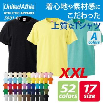5.6 Ounces and a half sleeve t-shirt ( XXL ) / athle UNITED ATHLE #5001-01 plain.