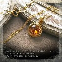 【天然琥珀】琥珀こはくのゴールドネックレス【5ツ星ランク】【50cmチェーン付き】【ak0908】【送料無料】【K18ゴールドヴェルメイユ】【アンバー】