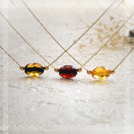 【天然琥珀】ネックレス こはくアクセサリー【ak0356】【5ツ星】琥珀【ゴールド・K18ネックレス】【天然石・パワーストーン】ギフト 贈り物に プレゼントに ジュエリー
