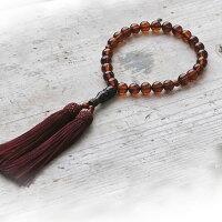 【天然琥珀】【jyu009】【Sランク】【男女共】永遠の命を意味する琥珀の数珠【一点もの】【送料無料】