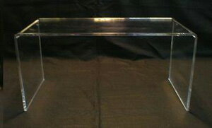 アクリルテーブル W580xD450xH330 厚8mm★ くり抜き加工なし