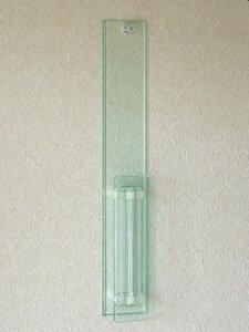 ■高級感のある一輪挿しのリリーフ・壁掛けはアクリルとガラス管を使用したコンビ製品フラワー...