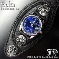 トライバルコンチョシルバーcrブルーブレスウォッチメンズブレスレット腕時計【あす楽対応】【ct35-ded01】【18020350】
