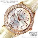 送料無料!999円 かわいい 腕時計 レディース おしゃれ 女性 ラウンドフェイス クロコ型押し パールホワイト 白【あす楽対応】【tvs303】[0003]