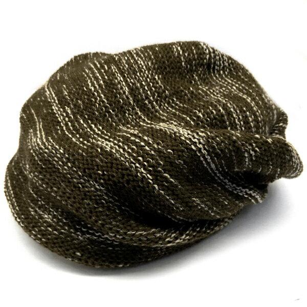 春夏小顔効果抜群のサマーニット帽が899円キャスケットメンズレディースニットキャップ帽子MIXブラウンコットン kami112