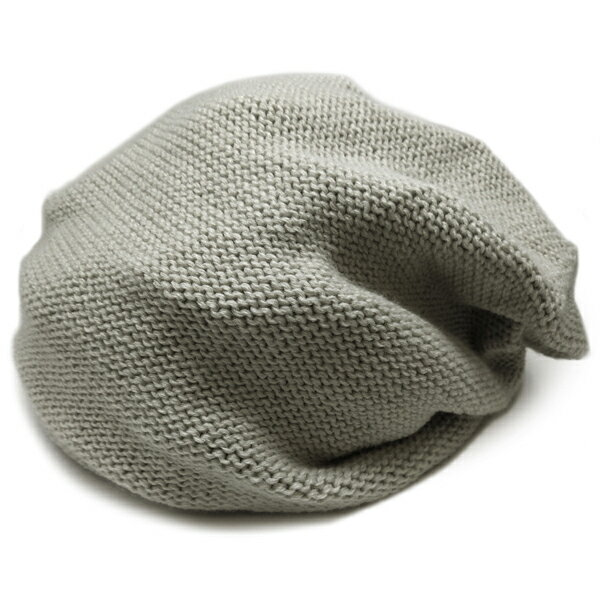 春夏小顔効果抜群のサマーニット帽が899円キャスケットメンズレディースニットキャップ帽子グレー灰コットン kami116  あす