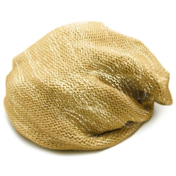 春夏小顔効果抜群のサマーニット帽が899円キャスケットメンズレディースニットキャップ帽子MIXオレンジベージュイエロー黄夏コット