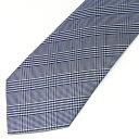 絶妙 7cm 幅 ネクタイ メンズ ネイビー 紺 チェック