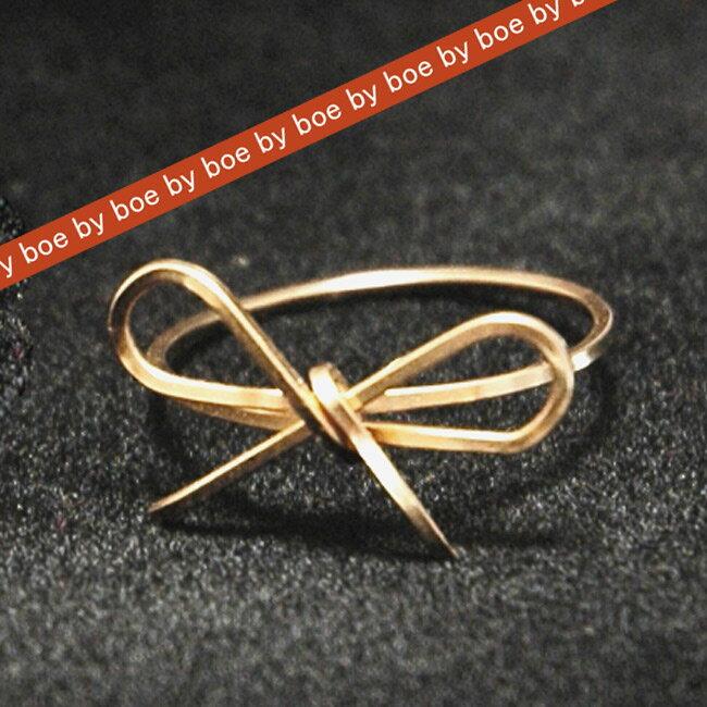 バイボー byboe リボン モチーフ リング Ribbon Ring GOLD イニシャルネックレス リボンリング ブレスレット セレブ 愛用 05P03Dec16 レディース メール便 【us】■【楽ギフ_○○】 【sa】