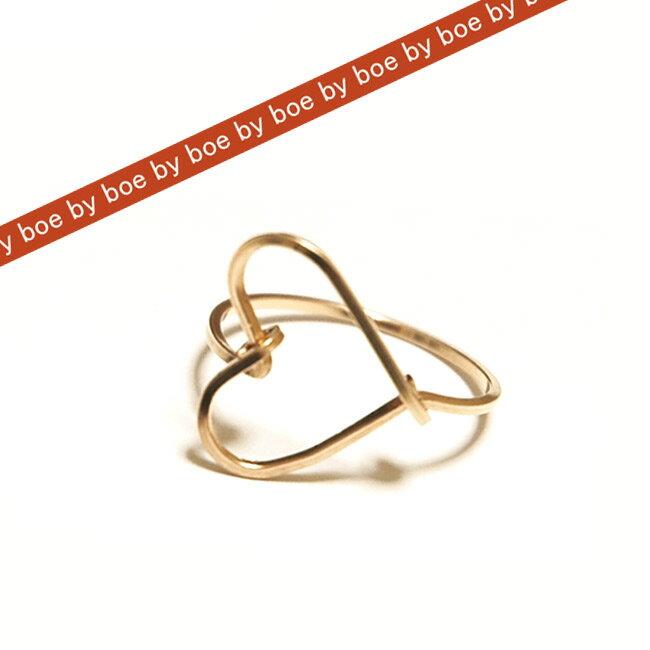 バイボー byboe ハート リング Heart Ring GOLD セレブ 愛用 05P03Dec16 レディース メール便 【us】■【楽ギフ_○○】 【sa】