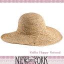 【メール便OK】 SALENEW YORK HAT ニューヨークハット ストローハット 麦わら帽子 Raffia Floppy紫外線対策 雑誌掲載レビュー記載で特別価格【楽ギフ_○○】【RCP】