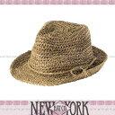 【メール便OK】SALE NEW YORK HAT ニューヨークハット ストローハット 麦わら帽子 Sea Grass Fedora 中折れ帽 雑誌掲載レビュー記載で特別価格!【楽ギフ_○○】【RCP】