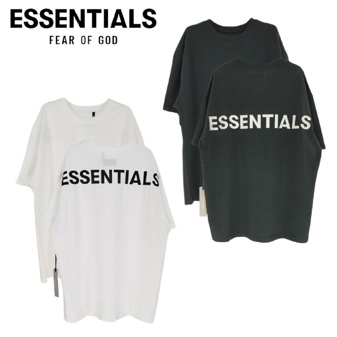 トップス, Tシャツ・カットソー FEAR OF GOD FOG ESSENTIALS ( ) 19SS REFLECTIVE LOGO SS TEE T BLACKWHITE