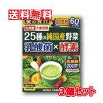 【送料無料】日本薬健金の青汁25種の純国産野菜乳酸菌×酵素3.5g×60包【3個セット】