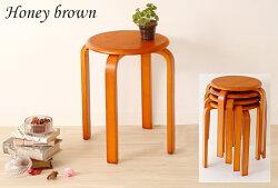 木製スツール,スタッキングスツール5脚セット,ナチュラル,ブラウン,丸イス,円型,円形