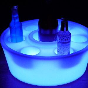【即日発送可】LEDワインラック【1個入り】16色カラーチェンジ点灯ワインボックスワイン箱収納ケース小物入れ小物収納収納BOXプラスチックケース丸型円形リモコン操作OK
